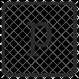 P Letter Icon