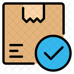 Package Delivered Colored Outline Icon