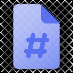 Page hastag Icon