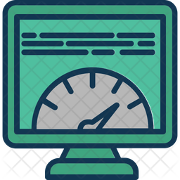 Page speed Colored Outline Icon