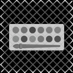 Paint box Flat Icon