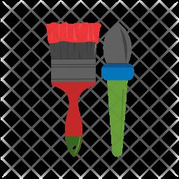 Paint brushes Icon