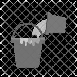 Paint buckets Flat Icon