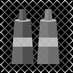 Paint tubes Flat Icon