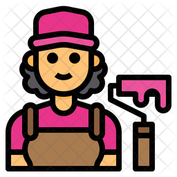 Painter Colored Outline Icon