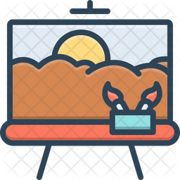 Painting Colored Outline Icon