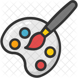 Painting Plate Icon Of Colored Outline Style Available In Svg Png Eps Ai Icon Fonts