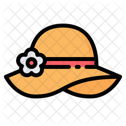 Pamela Hat Icon Of Colored Outline Style Available In Svg Png Eps Ai Icon Fonts