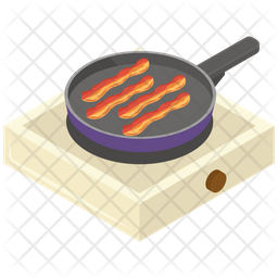 Pan Frying Bacon Icon