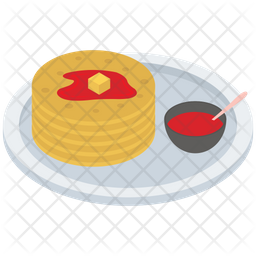 Pancake With Sauce Icon