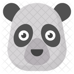 Panda Face Emoji Icon Of Flat Style Available In Svg Png Eps Ai Icon Fonts