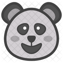 Panda Face Emoji Icon Of Colored Outline Style Available In Svg Png Eps Ai Icon Fonts