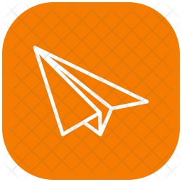 Paper, Plane, Transport, Delivery Icon