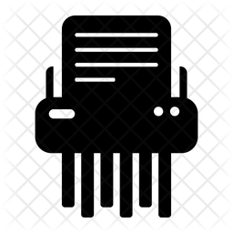 Paper Shredder Glyph Icon
