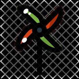 Paper Windmill Icon