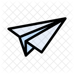 Paperplane Colored Outline Icon