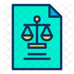 Papers Colored Outline Icon