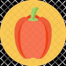 Paprika, Capsicum, Crunchy, Nutrition Icon