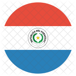 Paraguay Flat  Flag Icon