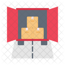 Parcel Container Flat Icon