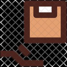 Parcel Delivered Colored Outline Icon
