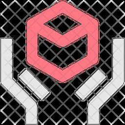 Parcel Delivered Line Icon
