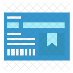 Parcel note Flat Icon