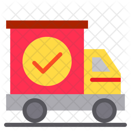 Parcel Shipped Flat Icon