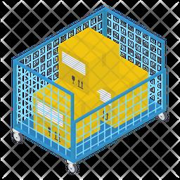 Parcel Storage Isometric Icon