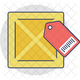 Parcel Tag Colored Outline Icon