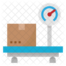 Parcel Weight Flat Icon