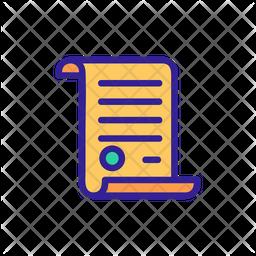 Parchment Colored Outline Icon