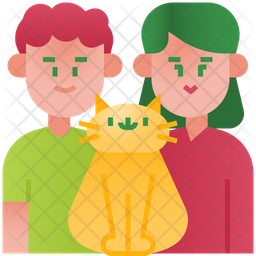Parents and cat Icon