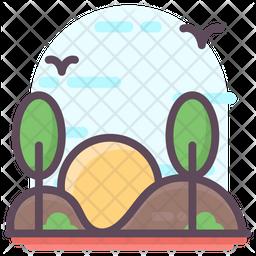 Park Landscape Icon