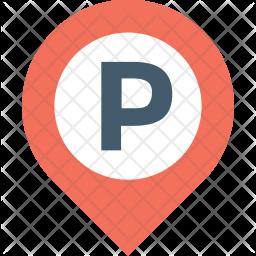 Parking Flat Icon