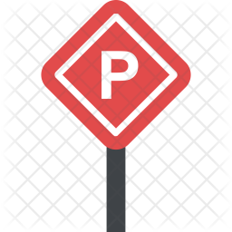Parking Sign Flat Icon