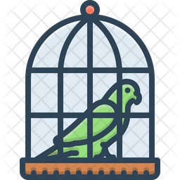 Parrot In A Cage Icon