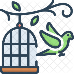 Parrot Outside Of Cage Icon