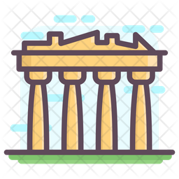 Parthenon Athens Icon Of Colored Outline Style Available In Svg Png Eps Ai Icon Fonts