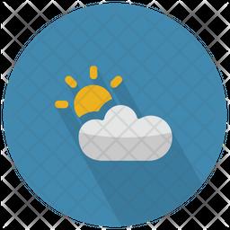 Partially Cloudy With Sun Icon