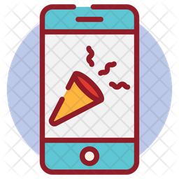 Party App Colored Outline Icon