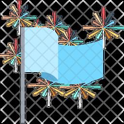 Party Flag Flat Icon