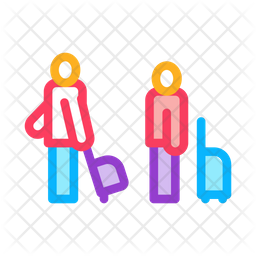 Passengers Colored Outline Icon