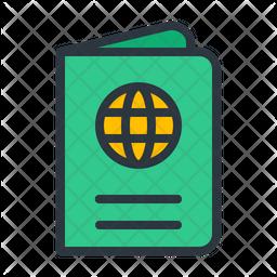 Passport Colored Outline Icon