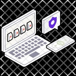 Password Security Isometric Icon