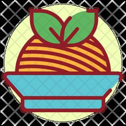 Pasta Colored Outline Icon