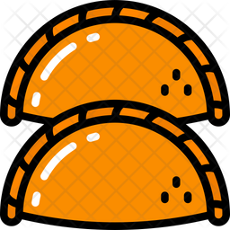 Pastries Colored Outline Icon