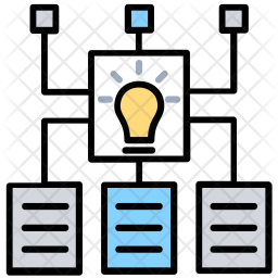 Pattern Recognition Colored Outline Icon