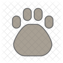 Paw Icon of Colored Outline style - Available in SVG, PNG, EPS, AI & Icon  fonts