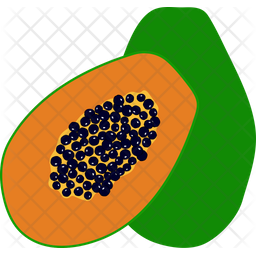 Pawpaw Colored Outline Icon